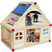 Marionette Wooden Toys - Marionnette Wooden Toys Poupée et Mini-Poupée Maison de Poupée en Bois et Famille x13