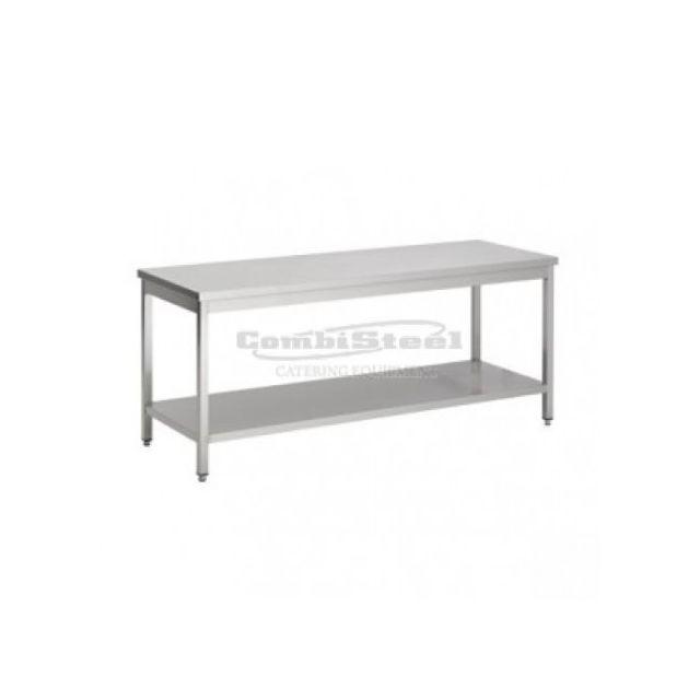 Combisteel Table Inox Avec Etagère Basse Soudée - Gamme 600 inox 700x600 600