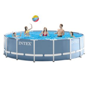 Intex piscine tubulaire prism frame ronde 4 57 x 1 22 m for Piscine intex 4 57 x 1 22