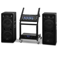 ELECTRONIC STAR - Set sono PA DJ pro Rack Star Series Mars Flash 400 Personnes