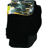 Topcar - 3 Tapis de sol semi-mesure pour Renault Mégane 2, noirs pour fixations d'origine attaches non fournies Arcoll 019506