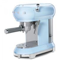 SMEG - Machine à café Expresso Années 50 - 15 Bars Bleu ECF01PBEU
