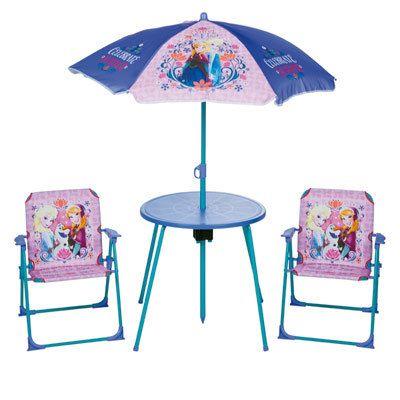 Logitoys - La Reine des Neiges - Table et chaise de jardin La Reine ...