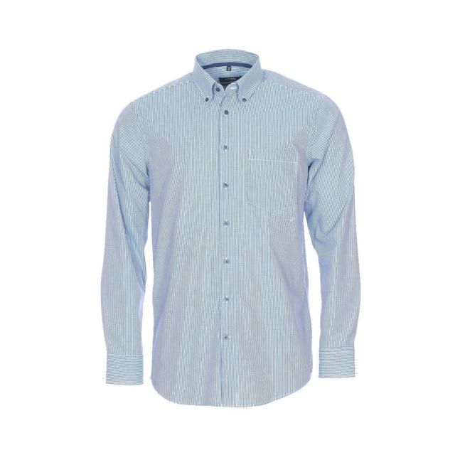 seidensticker chemise droite en coton blancs carreaux bleu marine et bleu turquoise sans. Black Bedroom Furniture Sets. Home Design Ideas