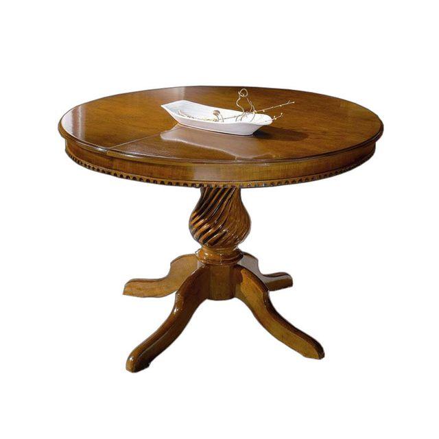 Artigiani Veneti Riuniti Table classique ronde 120 cm prolongeable