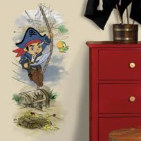 Roommates - Stickers Géant Capitaine Jake et les Pirates du pays imaginaire Disney