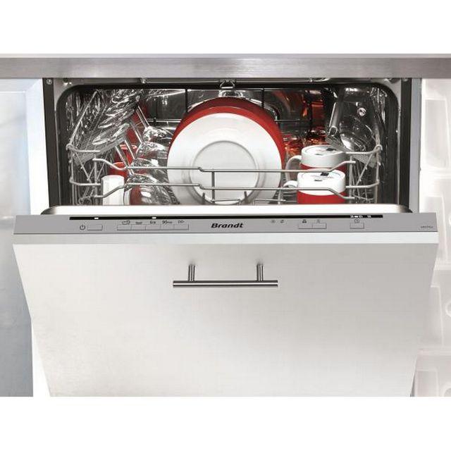 Brandt lave-vaisselle 60cm 12c 47db a++ tout intégrable - vh1772j