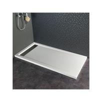 Planetebain - Receveur extra plat à poser contemporain 80X160 blanc