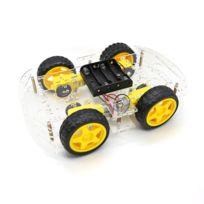 TBS2652 Kit Chassis Voiture 4WD Arduino - Voiture Robot Intelligente - Avec  Encodeur de vitesse - Smart Robot Car Arduino with Speed Encoder