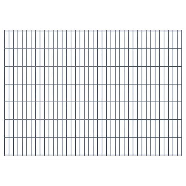 Vidaxl Panneaux de clôture 2D pour jardin 2008x1430 mm 46 m gris