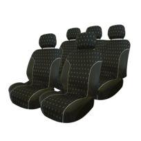 Adnauto - Jeu de couvre-sieges 9pcs -charcoal- compatible airbag