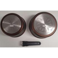 Marque Generique - Tefal - 215894 - Set de 3 pièces - 2 Casseroles en aluminium + Poignée