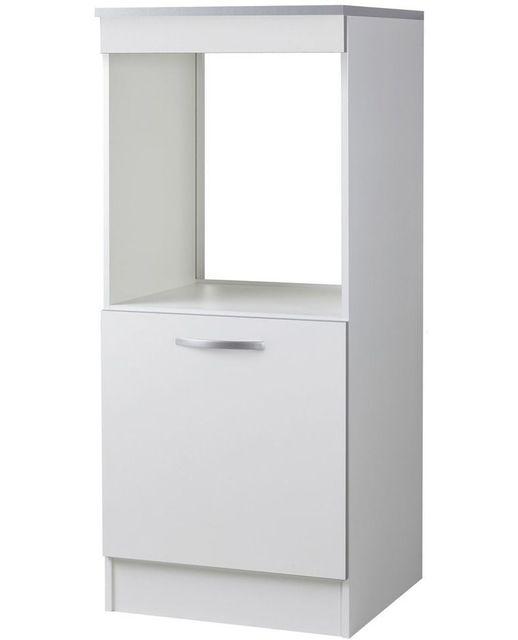 comforium meuble bas de cuisine moderne 60 cm pour four coloris blanc 58cm x 60cm x 141cm pas cher achat vente armoire rueducommerce