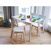 Beliani - Table de cuisine - extensible - 120-160 cm - blanc - Sanford