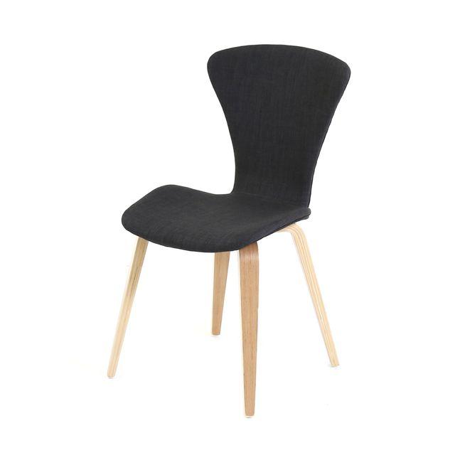 Lebrun Chaise confort noire Hudson