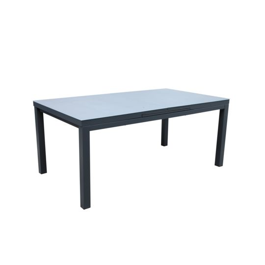 Table Canberra allonge auto gris 180/240 à Prix Carrefour