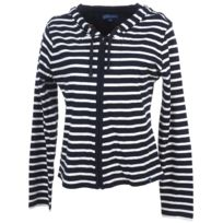 Elegance Oceane - Vestes sweats zippés capuche Aileron marineveste zip c Bleu 36256