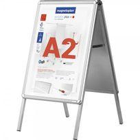 Magnetoplan - Chevalet publicitaire - A2 - intérieur et extérieur - argent