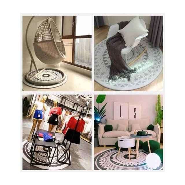 Tapis De Salon Salon Chambre A Coucher Ordinateur Chaise Pivotante Tapis Tapis Rond Nordic Stylish Home Tapis De Porte Taille 60cm