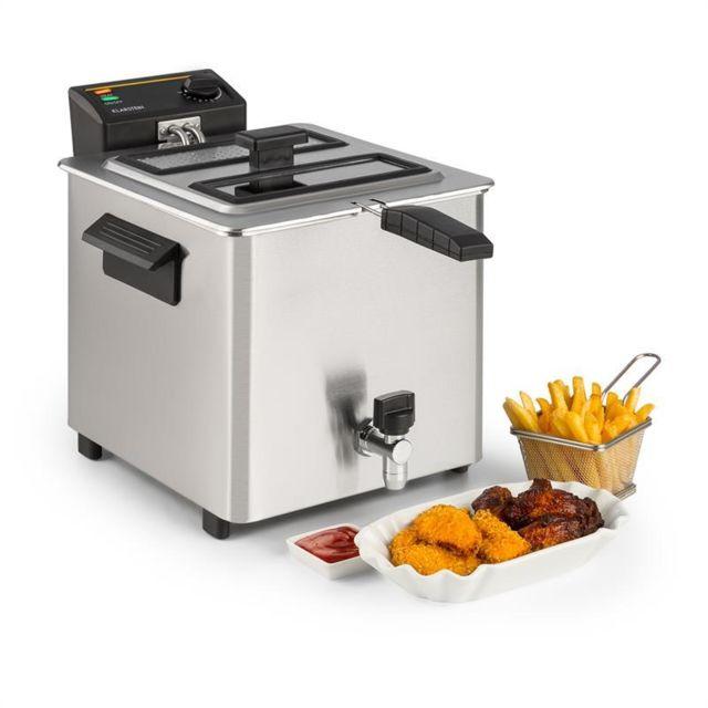 KLARSTEIN Family Fry Friteuse électrique 8 litres 3000W -inox argent