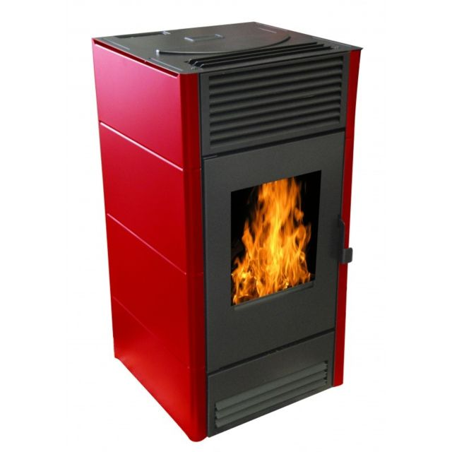 Warm Tech Poele A Pellets 8Kw - Rouge