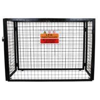 Monstershop - Cage Métallique Pliante pour Entreposage de Bouteilles de Gaz standard de 19 kg, Cage de 149cm x 100cm x 60cm