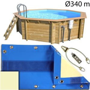 piscine center o 39 clair b che hivernage piscine bois hors sol cerland 340 beige pas cher. Black Bedroom Furniture Sets. Home Design Ideas
