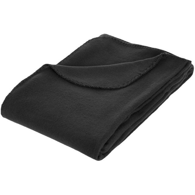 promobo plaid polaire couverture cosy douillet noir 100 polyester 125x150cm pas cher achat. Black Bedroom Furniture Sets. Home Design Ideas