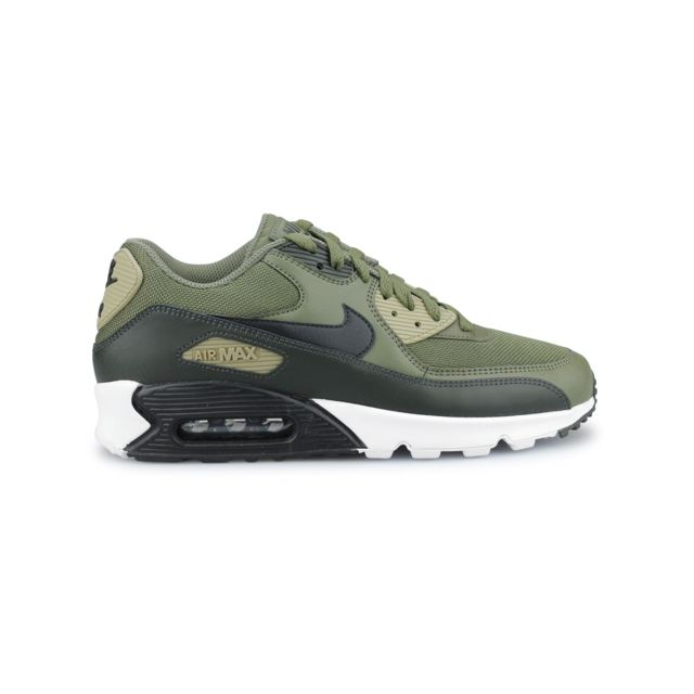 huge selection of a8e52 4e8ac Nike - Air Max 90 Essential Olive Aj1285-201 Kaki - pas cher Achat   Vente  Baskets homme - RueDuCommerce