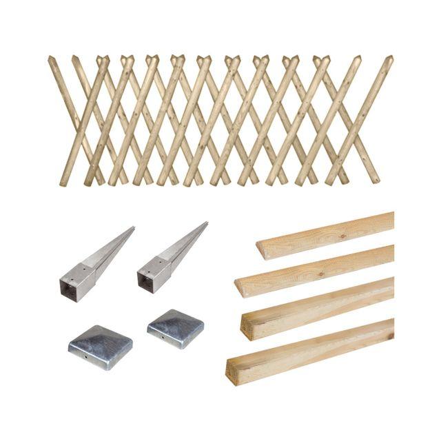cemonjardin kit cl ture prunus 80 enfoncer pas cher achat vente cl ture en bois. Black Bedroom Furniture Sets. Home Design Ideas