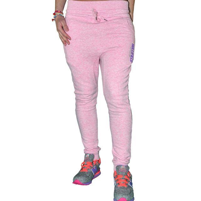 16e018fe869 Hollifield - En Solde Bas De Jogging Sarouel Slim - Femme - Fp 8088 - Rose  - pas cher Achat   Vente Survêtement femme - RueDuCommerce