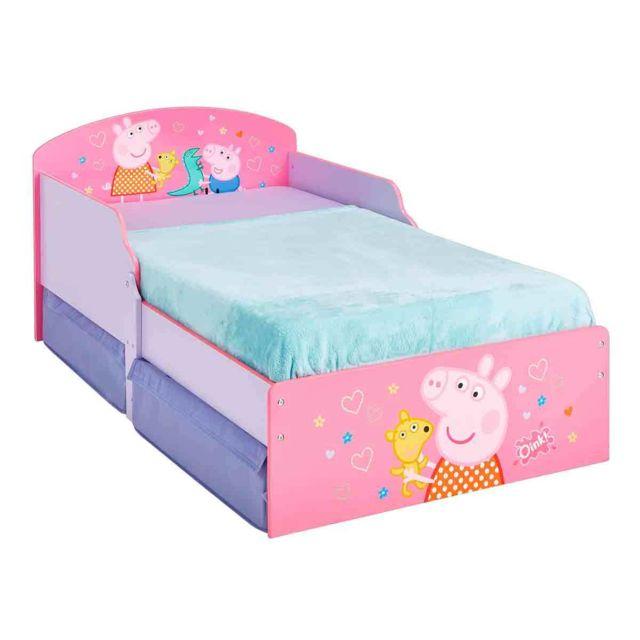 WORLDS APART Lit P'tit Bed Peppa Pig avec tiroirs de rangement