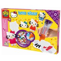 Ses Creative - Boite de 1600 perles Technique à repasser : Hello Kitty avec appareil pour positionner les perles