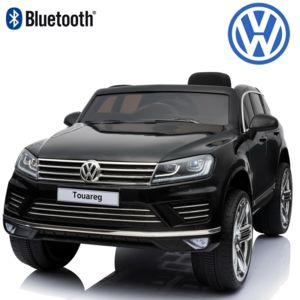 volkswagen 4x4 suv voiture lectrique enfant b b touareg 12 volts pack luxe bluetooth noir. Black Bedroom Furniture Sets. Home Design Ideas