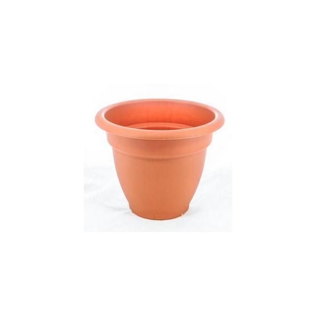 e39be42b52f84 Marchioro - Pot Pour Plantes Petra 32 cm terracota matière plastique ...