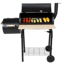 ROBBY - barbecue à charbon/fumoir 58x30cm avec chariot - smoker chef deluxe