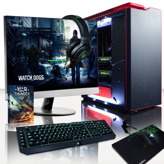 VIBOX Processeur Huit 8-Core Intel i7 6900K - 2x Dual SLI Nvidia GeForce GTX 1080 8 Go - 16 Go 3000MHz RAM - 3 To - Windows 10