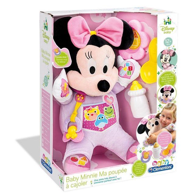 CLEMENTONI MINNIE - Ma poupée à cajoler - 62497.3 Une poupée qui encourage les petites filles à prendre soin de Minnie.