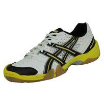 Asics - Gel Domain Chaussures de Handball Homme Blanc Noir Jaune