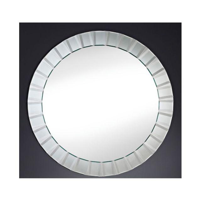 Deknudt Mirrors Miroir design Club Contemporain Ovale Naturel 100 cm