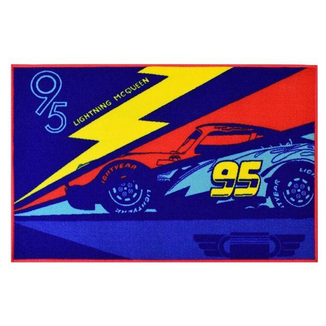 Jemini Tapis Cars 3 Flash Mcqueen Disney Multicolore Pas Cher