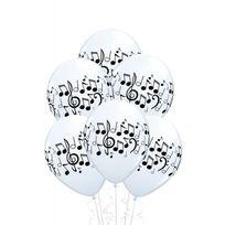 Marque Generique - Ballons notes de musique x25