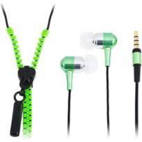 LogiLink - Ecouteurs stéréo intra-auriculaire Zipper vert HS0023