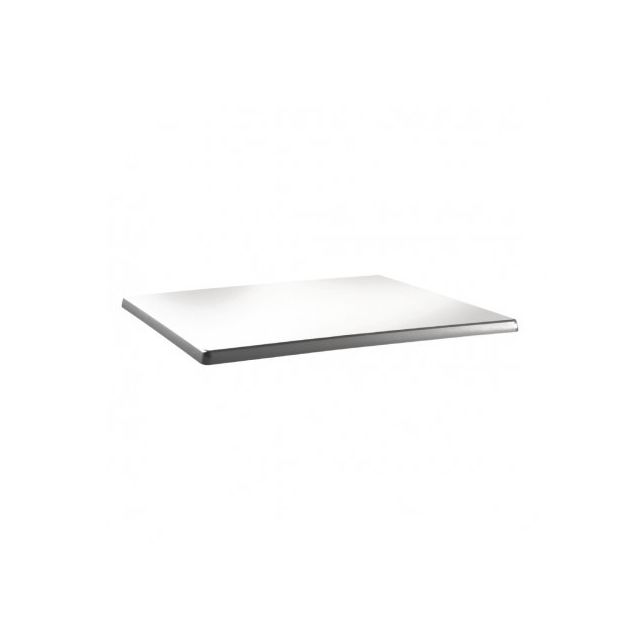 Topalit Plateau de table rectangulaire blanc pur 120 x 80 cm Blanc 1200 mm