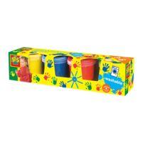 Ses - Peinture à doigts 4 pots de 150 ml : Classique