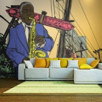 Bimago - Makossa-a1-LFTNT0671 - Papier peint - Saxophonist in New York 250x193