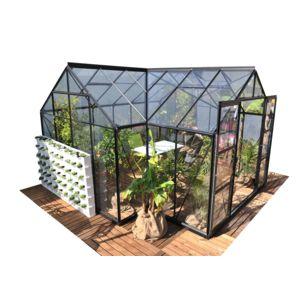 lams serre de jardin en verre sirius 13 00 m base pas cher achat vente serres en verre. Black Bedroom Furniture Sets. Home Design Ideas