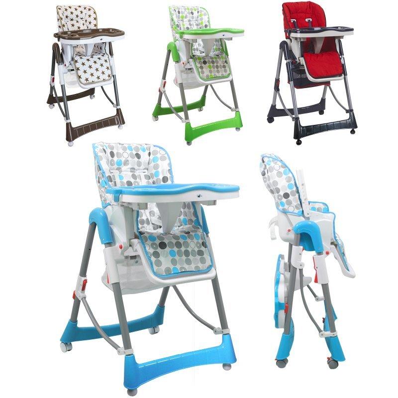 Chaise haute bébé pliable réglable hauteur dossier tablette