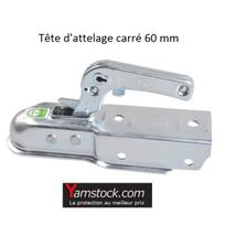 Tete d attelage de remorque diametre 60mm carré