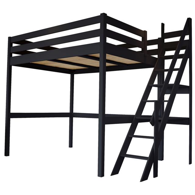 Abc Meubles Lit Mezzanine Sylvia Avec Escalier De Meunier Pin